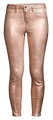 L'Agence Women's Margot Ankle-Length Skinny Metallic Jeans