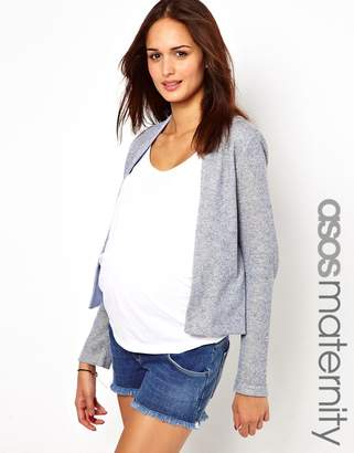 Asos Blazer In Metallic Textured Marl