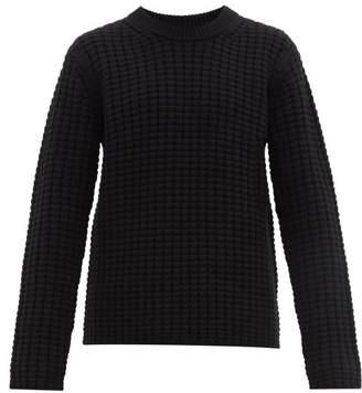 Joseph Waffle Knit Wool Sweater - Mens - Black
