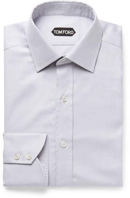 Tom Ford Light-Blue Slim-Fit Cotton-Twill Shirt