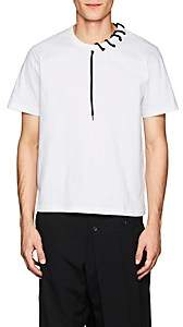Craig Green Men's Lace-Up Cotton Jersey T-Shirt - White