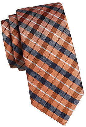 Tommy Hilfiger Plaid and Whale Silk Tie