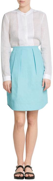 Jil SanderJil Sander Navy Cotton Skirt