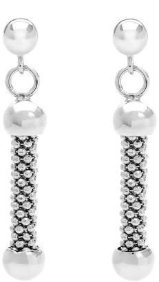 John Greed Sterling Silver Mesh Drop Earrings