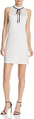 AQUA Circle Lace Tie Neck Dress - 100% Exclusive $88 thestylecure.com