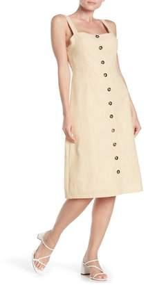 Honey Punch Sleeveless Button Front Midi Dress