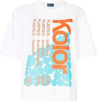 Kolor printed oversized T-shirt