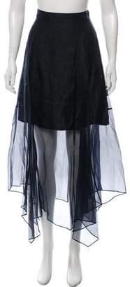 Marissa Webb Silk Midi Skirt