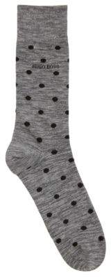 BOSS Hugo Polka Dot Cotton Blend Sock RS Yarn Effect US CC 7-13 Grey