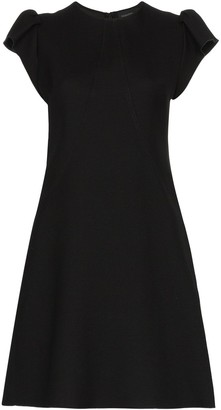 Giambattista Valli gathered-sleeve flared dress