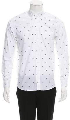 Wood Wood Logo Print Button-Up Shirt