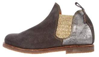 Penelope Chilvers Metallic Suede Ankle Boots