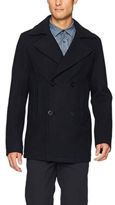 Vince Men's Bonded Double Breasted Peacoat