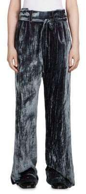 Ann Demeulemeester Velvet Wide-Leg Pants