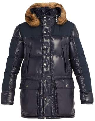 Moncler Frey Hooded Quilted Down Parka - Mens - Navy