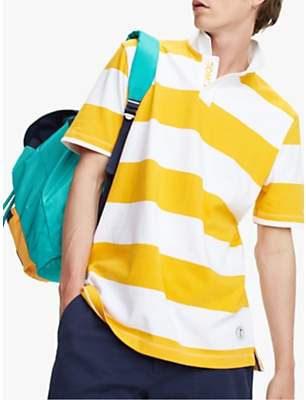 c05e7c52fc2 Tommy Hilfiger Tommy Jeans Stripe Block Stripe Rugby Shirt, Yellow/White