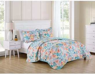 VCNY Home Multi-Color Kayla 3 Piece Bedding Quilt Set, Shams Included