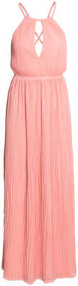 H&M Long pleated dress - Pink