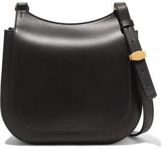 The Row Hunting Bag 9 Leather Shoulder Bag - Black
