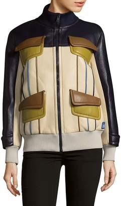 Prada Women's Zip-Front Leather Jacket