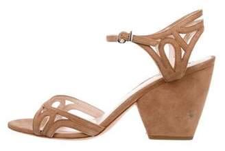 Giorgio Armani Suede Cutout Sandals