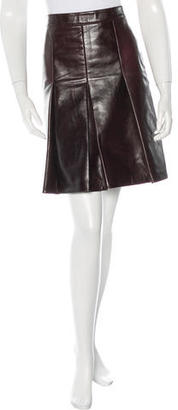 Belstaff Leather Mini Skirt w/ Tags $275 thestylecure.com