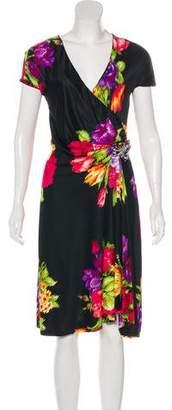 Blumarine Silk Floral Print Dress w/ Tags