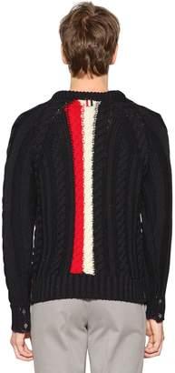 Thom Browne Back Intarsia Stripes Wool Knit Sweater