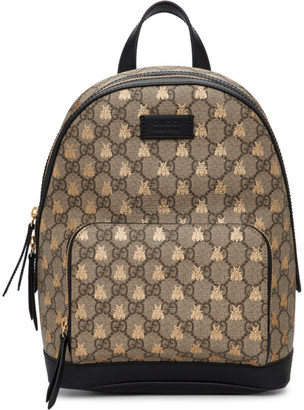 Gucci Beige GG Supreme Bestiary Backpack