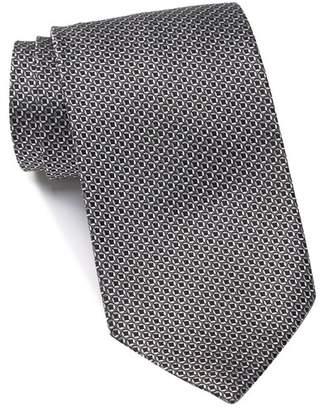 Ermenegildo Zegna Silk Circles & Squares Tie