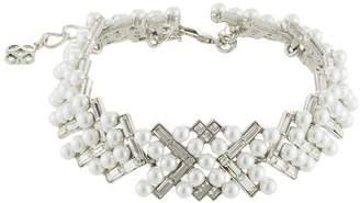 Oscar de la Renta embellished pearl necklace