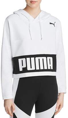 Puma Logo Cropped Hooded Sweatshirt