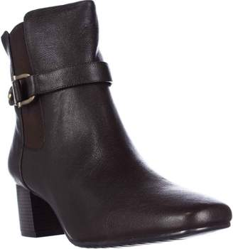 Bandolino Lorillar Side Buckle Dress Booties - Dark /Dark