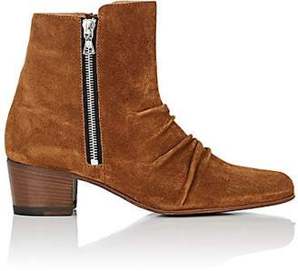 Amiri Women's Skinny Stack Suede Ankle Boots - Brown