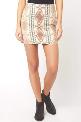 Juniper Blu Tribal Textured Mini Skirt