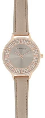 Red Herring Ladies Taupe Stone Embellished Analogue Watch