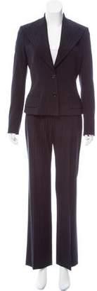 Dolce & Gabbana Stripe Wool Pantsuit
