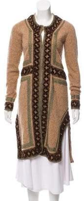 Anna Sui Longline Embellished Cardigan