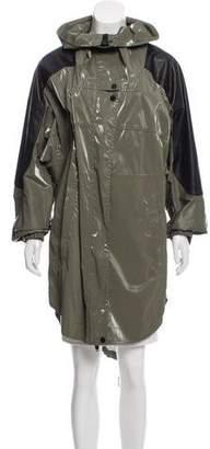 Alexander Wang Leather-Accented Windbreaker Jacket