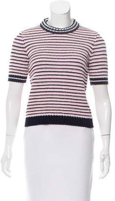 Miu Miu Knit Short Sleeve Top