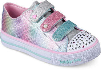 Skechers Big Girls' Twinkle Toes: Shuffles - Ms. Mermaid Light-Up Casual Sneakers from Finish Line