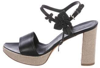 Prada Leather Ankle-Strap Sandals