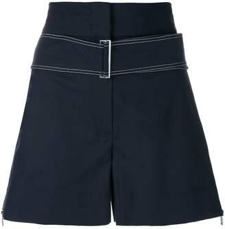 Sportmax belted high-waist shorts