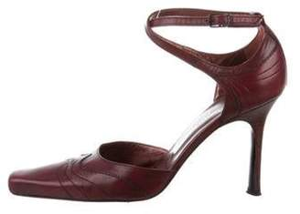 Stephane Kélian Square-Toe Leather Pumps Stephane Kélian Square-Toe Leather Pumps
