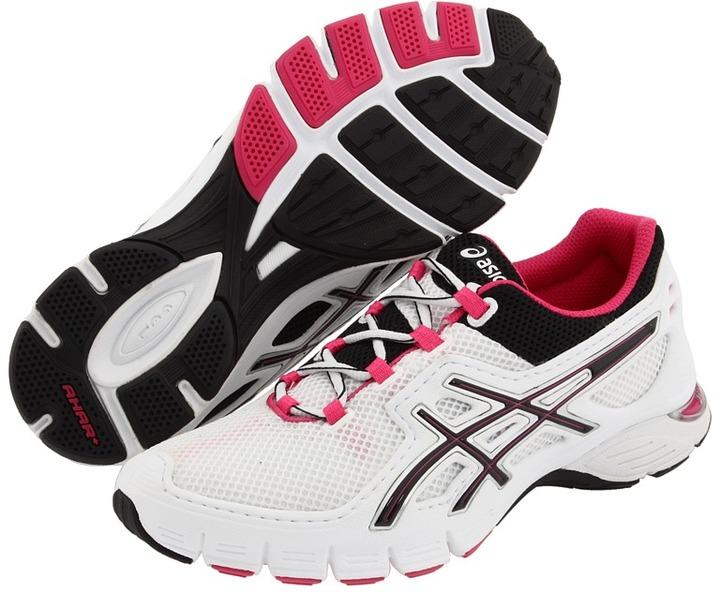 Asics GEL-Finite (White/Black/Super Pink) - Footwear