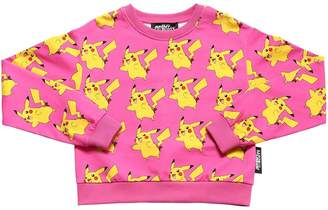 Jeremy Scott Pikachu Print Cotton Sweatshirt