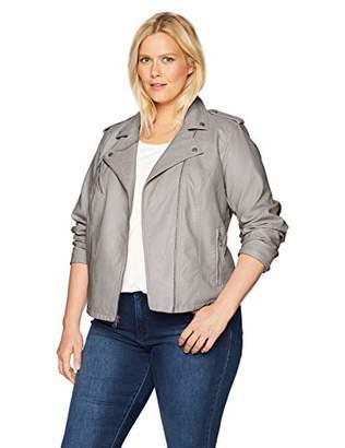 Levi's Size Women's Plus Classic Faux Leather Motorcycle Jacket