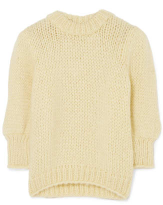 Ganni Julliard Mohair And Wool-blend Sweater - Yellow