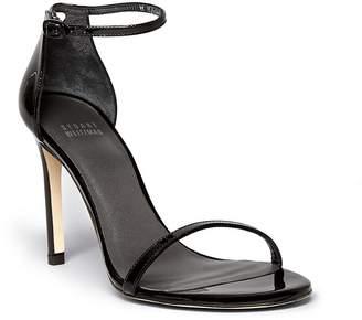 Stuart Weitzman Women's Nudistsong Patent Leather High-Heel Sandals