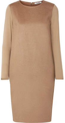 Max Mara Astoria Stretch Wool-trimmed Camel Hair Dress - Beige